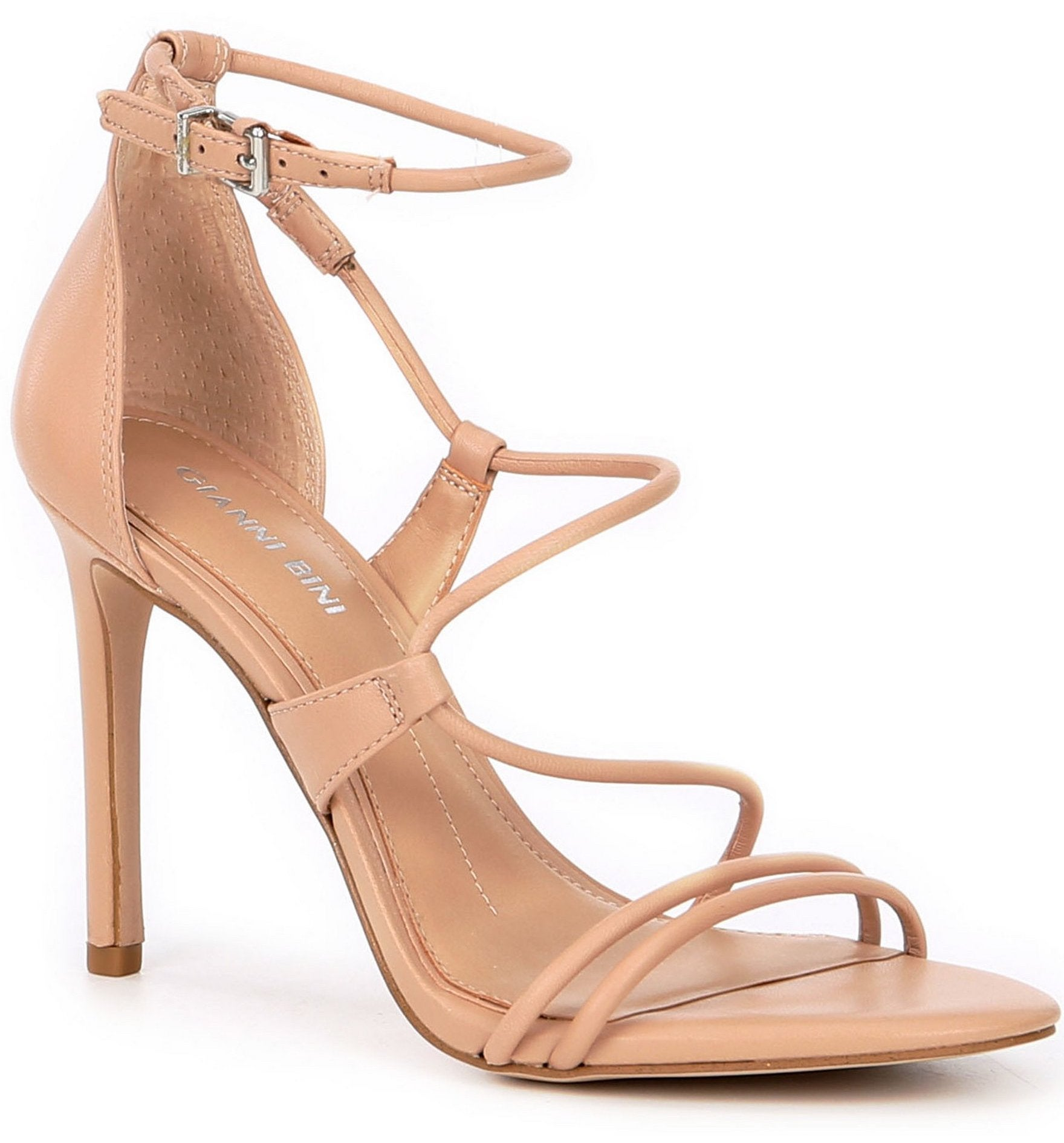 Gianni Bini Kameela Leather Strappy Dress Sandals