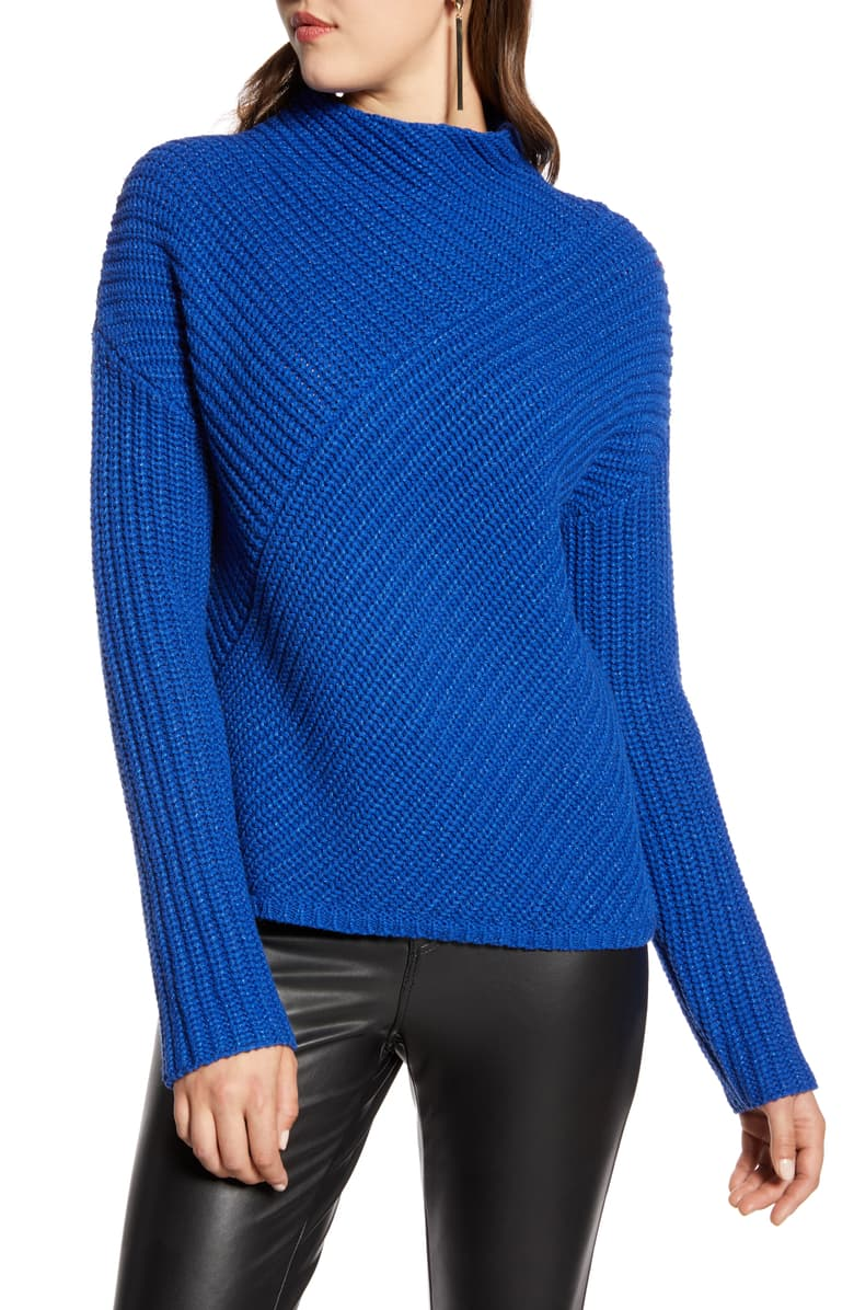 Halogen Block Ribbed Sweater