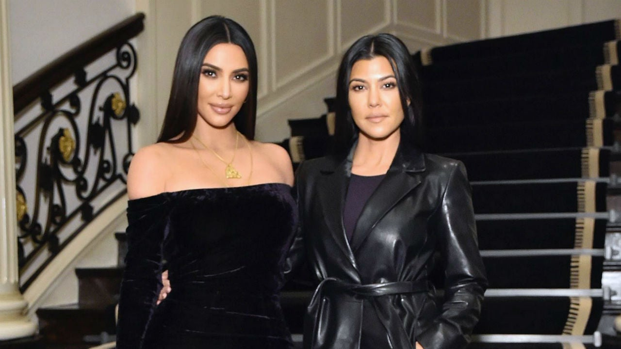 Kim and Kourtney Kardashian Take a Massive Family Photo But There's One Big Problem