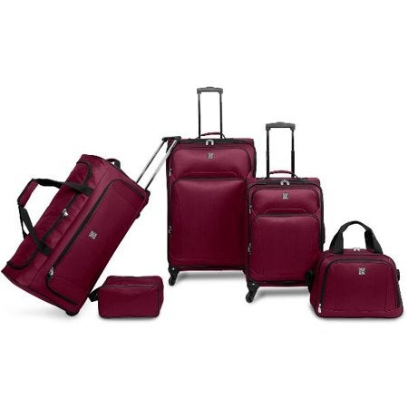 Protege 5 Piece Luggage Set with Carry On and Checked Bag