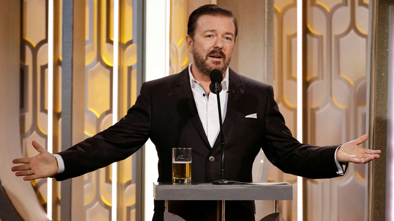 Image result for ricky gervais golden globe