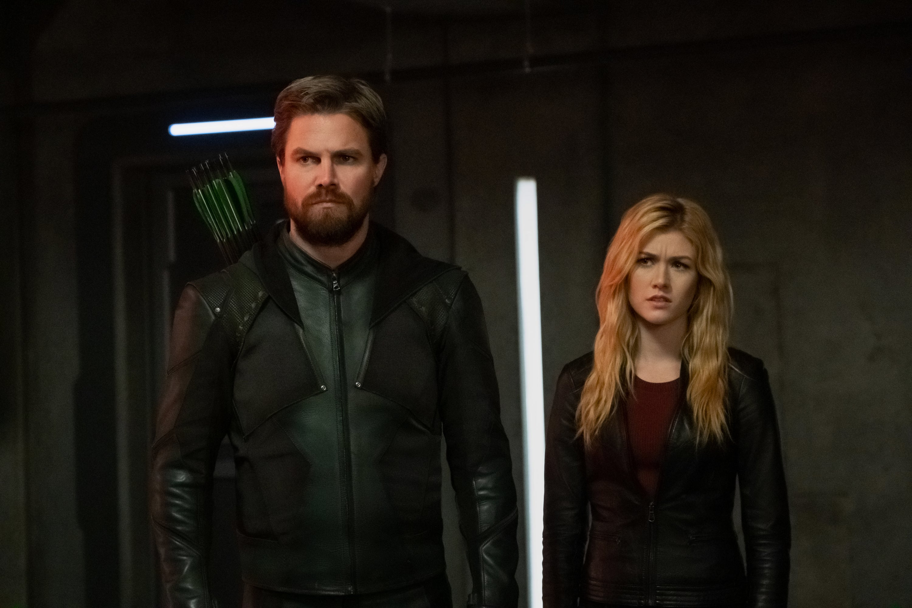 Crisis On Infinite Earths Katherine Mcnamara On The Green Arrow Mantle And Sacrifices To Come Exclusive Entertainment Tonight