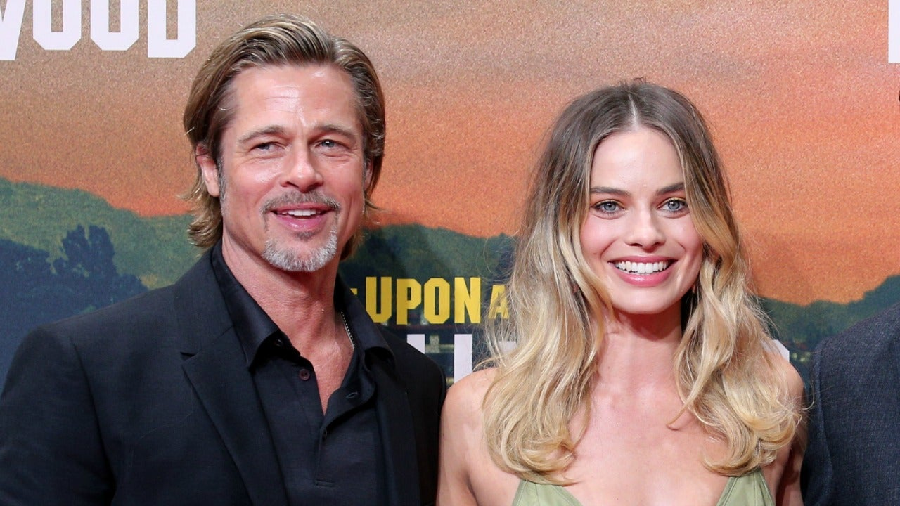 Margot Robbie's First Reaction After Brad Pitt Thanked Her Feet at the SAG Awards (Exclusive)