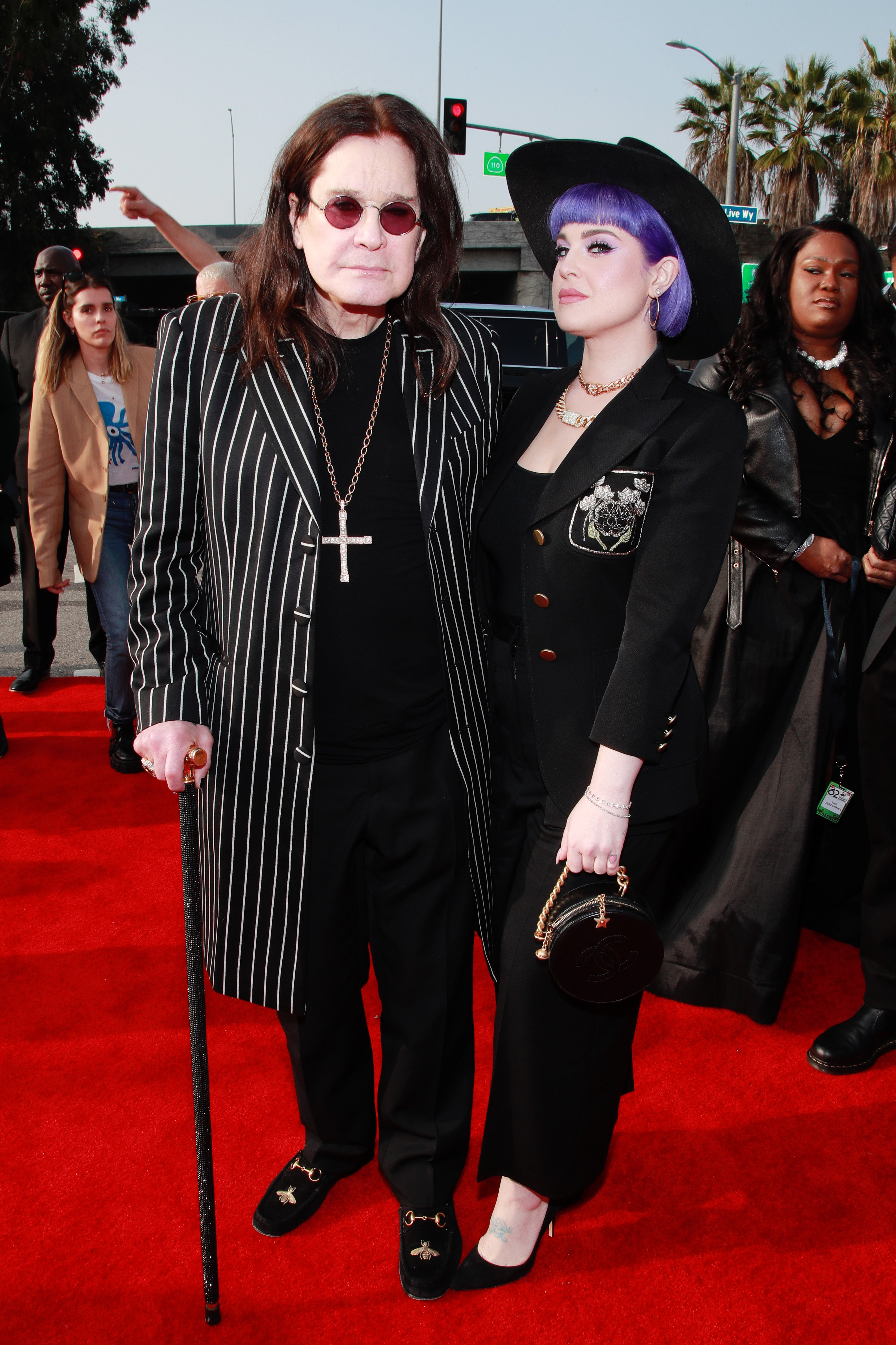 Ozzy Osbourne and Daughter Kelly Make GRAMMYs Appearance Following His Parkinson's Disease Diagnosis