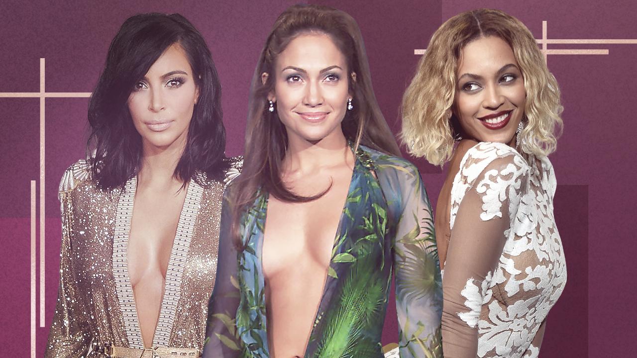 Jennifer Lopez, Kim Kardashian West and Beyoncé Rock the Hottest GRAMMY Looks of All Time