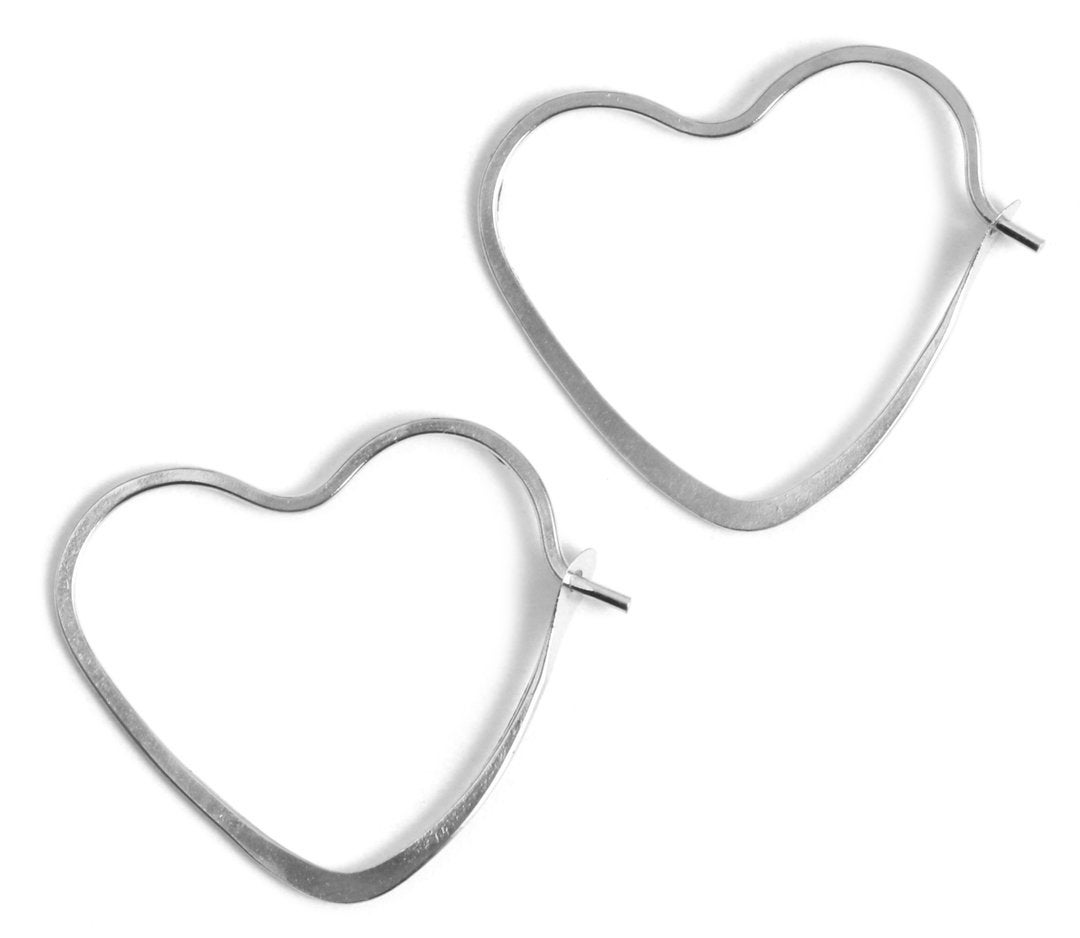 Melissa Joy Manning 3/4 Inch Heart Shape Hoop Earrings