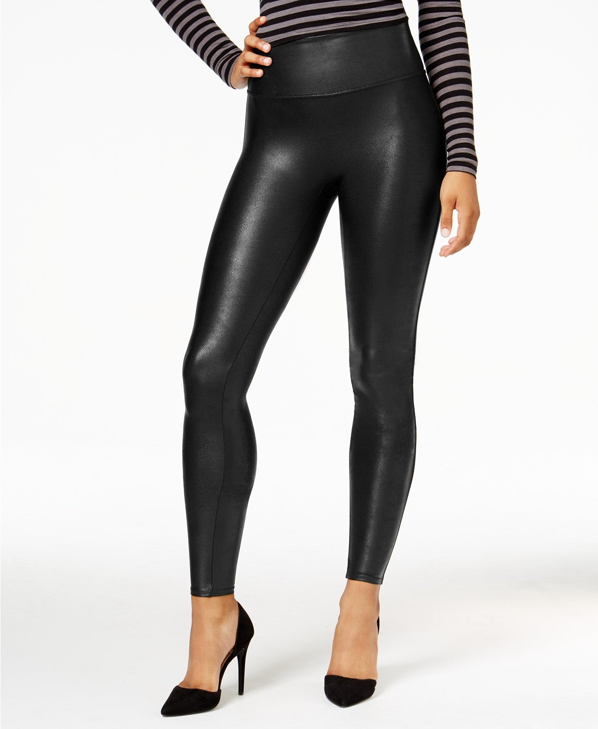 Spanx Faux-Leather Tummy Control Leggings