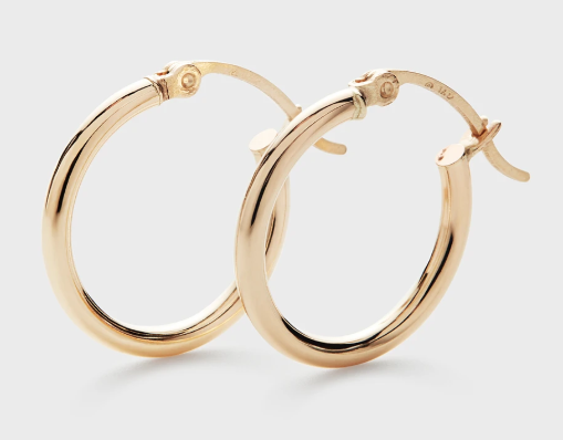 The Clear Cut Small 14k Gold Hoops
