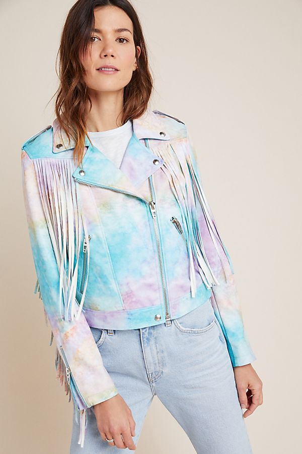 Anthropologie Monterey Fringed Moto Jacket
