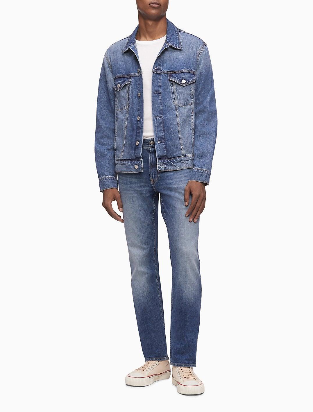 Calvin Klein Modern Ed Blue Classic Trucker Jacket