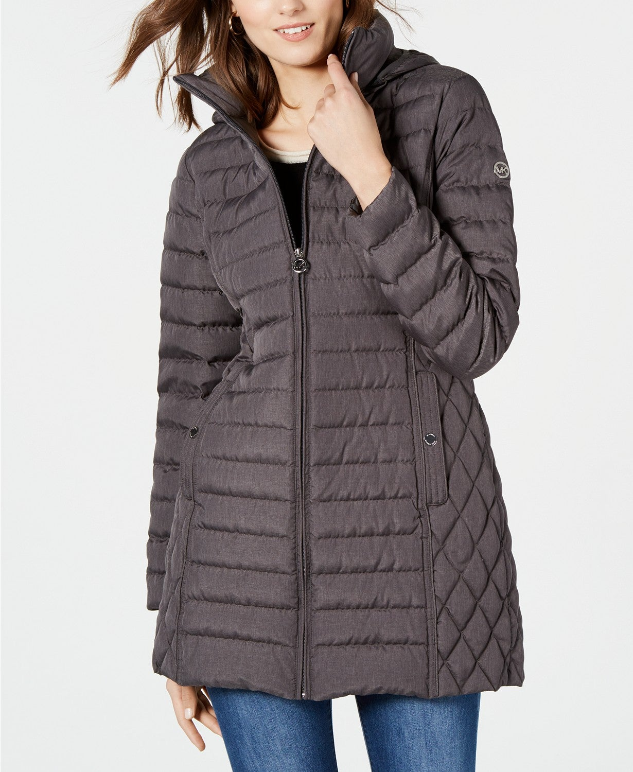 MICHAEL Michael Kors Packable Hooded Down Puffer Coat