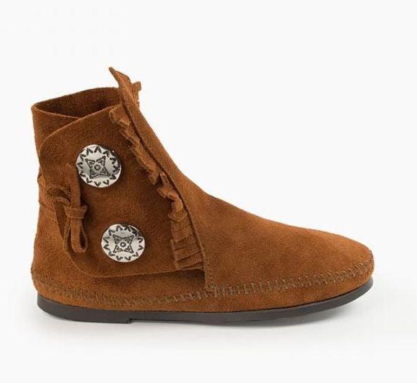Minnetonka Two Button Hardsole Boot