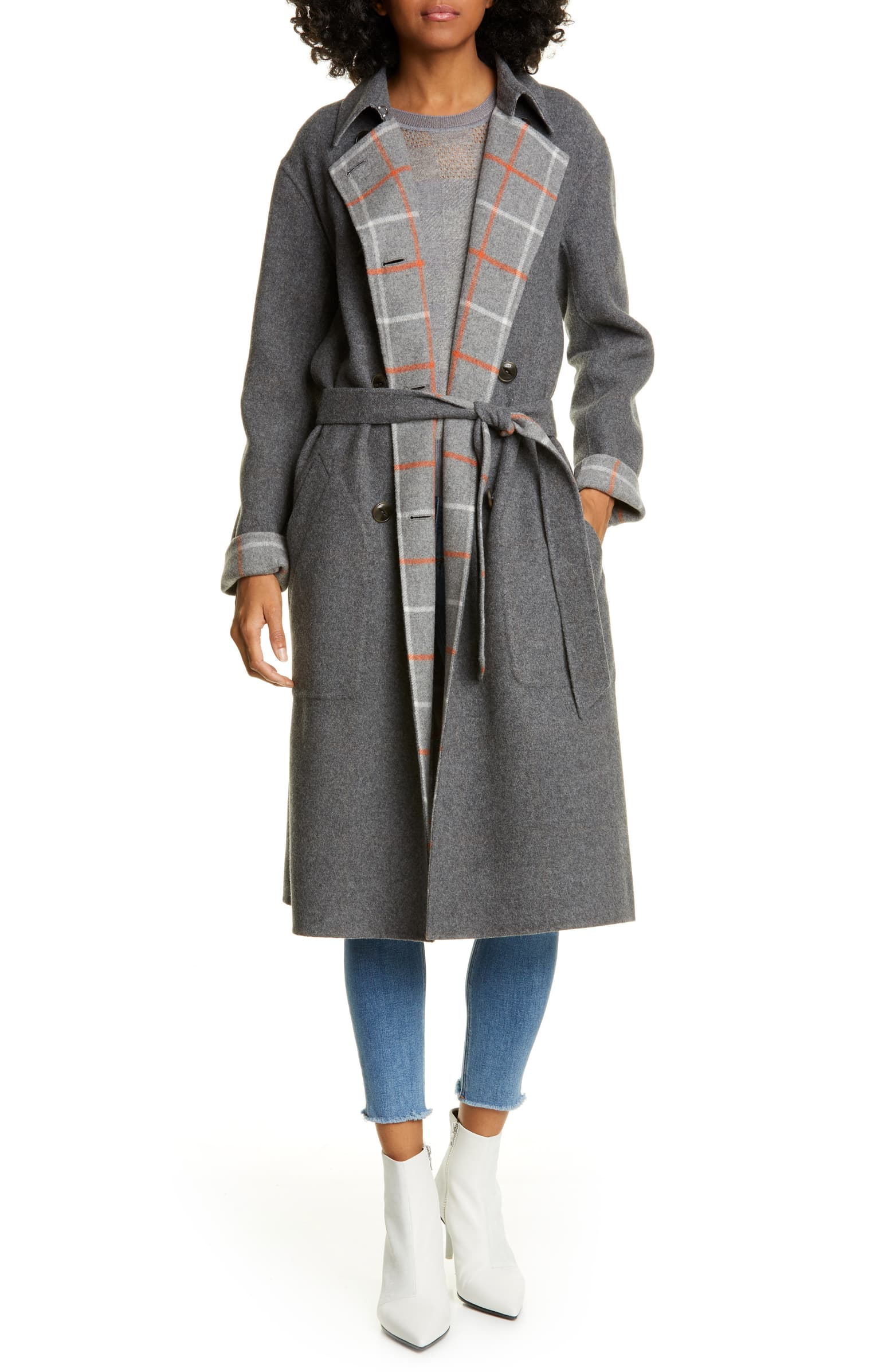 Rag & Bone Rach Reversible Wool Blend Car Coat