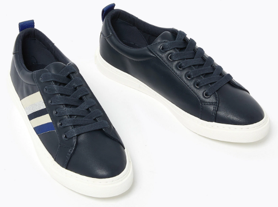 M&S Collection Ribbon Detail Lace Up Trainers