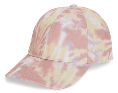 Madewell Canvas Baseball Cap in Tie-Dye Print