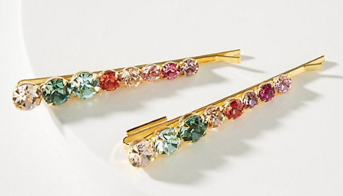 Anthropologie Lelet NY Rainbow Bobby Pin Set