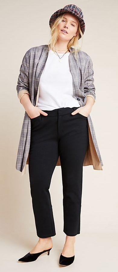 Anthropologie The Essential Slim Tulip-Hem Pants