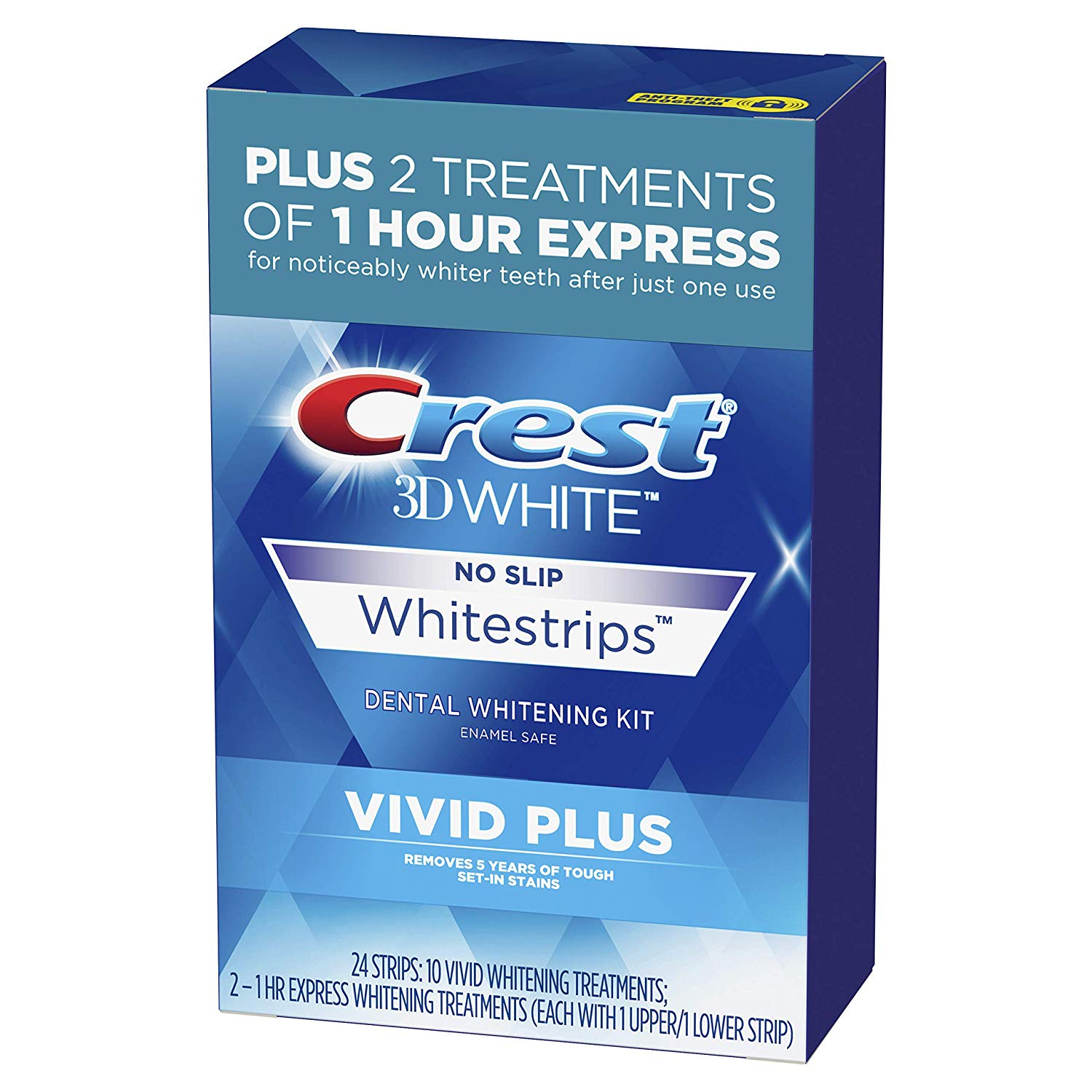 Crest 3D White Whitestrips Vivid Plus Teeth Whitening Kit