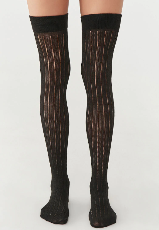 Forever 21 Ribbed Over-the-Knee Socks