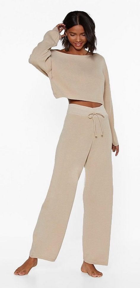 Nasty Gal Slow Down Sweater and Joggers Lounge Set