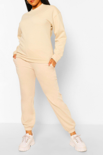 Boohoo Plus Basic Sweat & Jogger Lounge Set