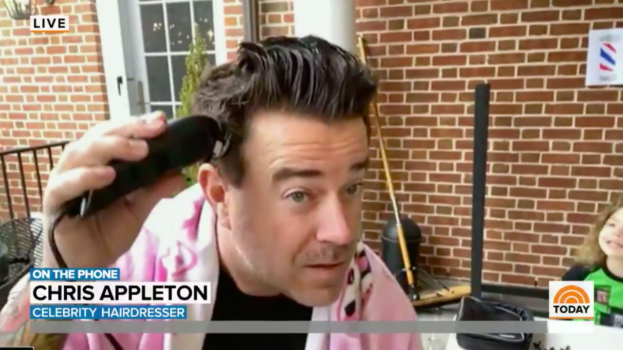 Carson Daly Cuts His Own Hair Live On The Today Show And Shocks