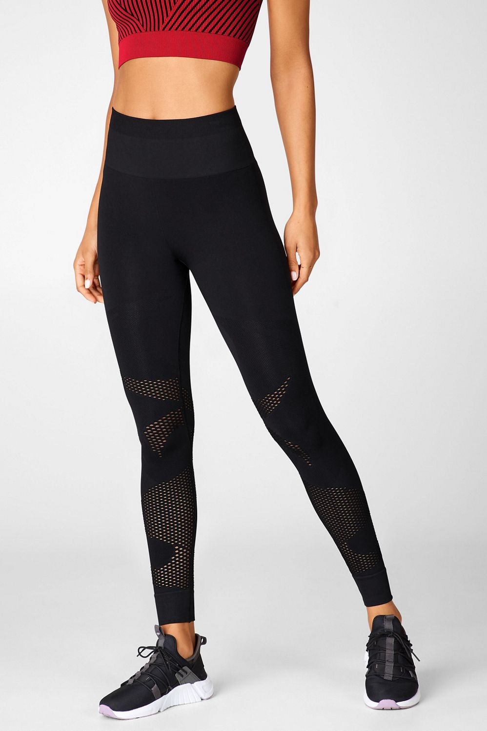 Fabletics High-Waisted Seamless Mesh Legging