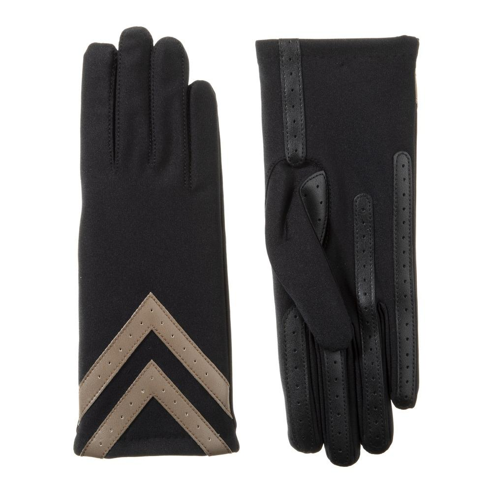 Isotoner Spandex Chevron Gloves
