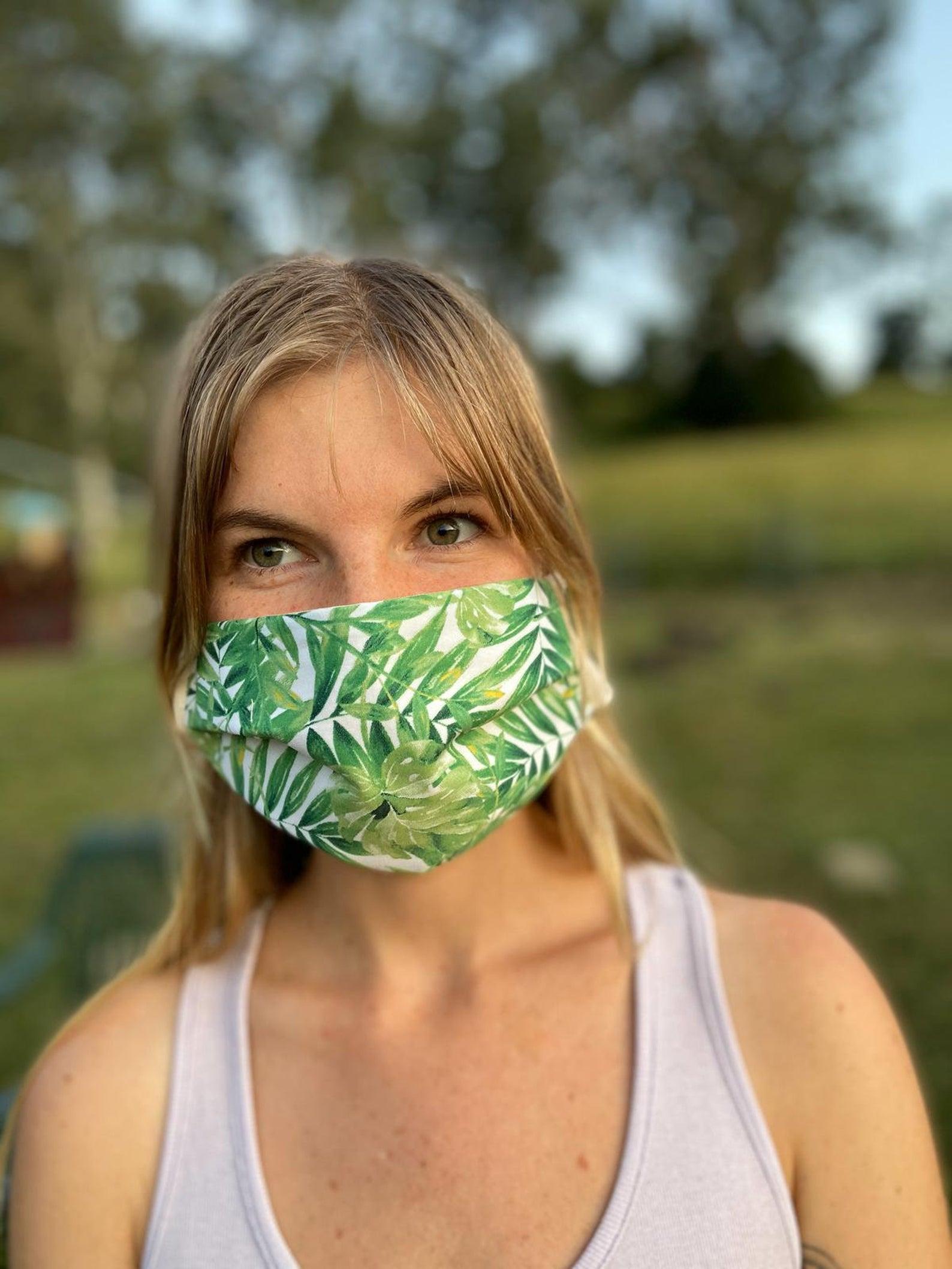 Leaf Print Protective Face Mask