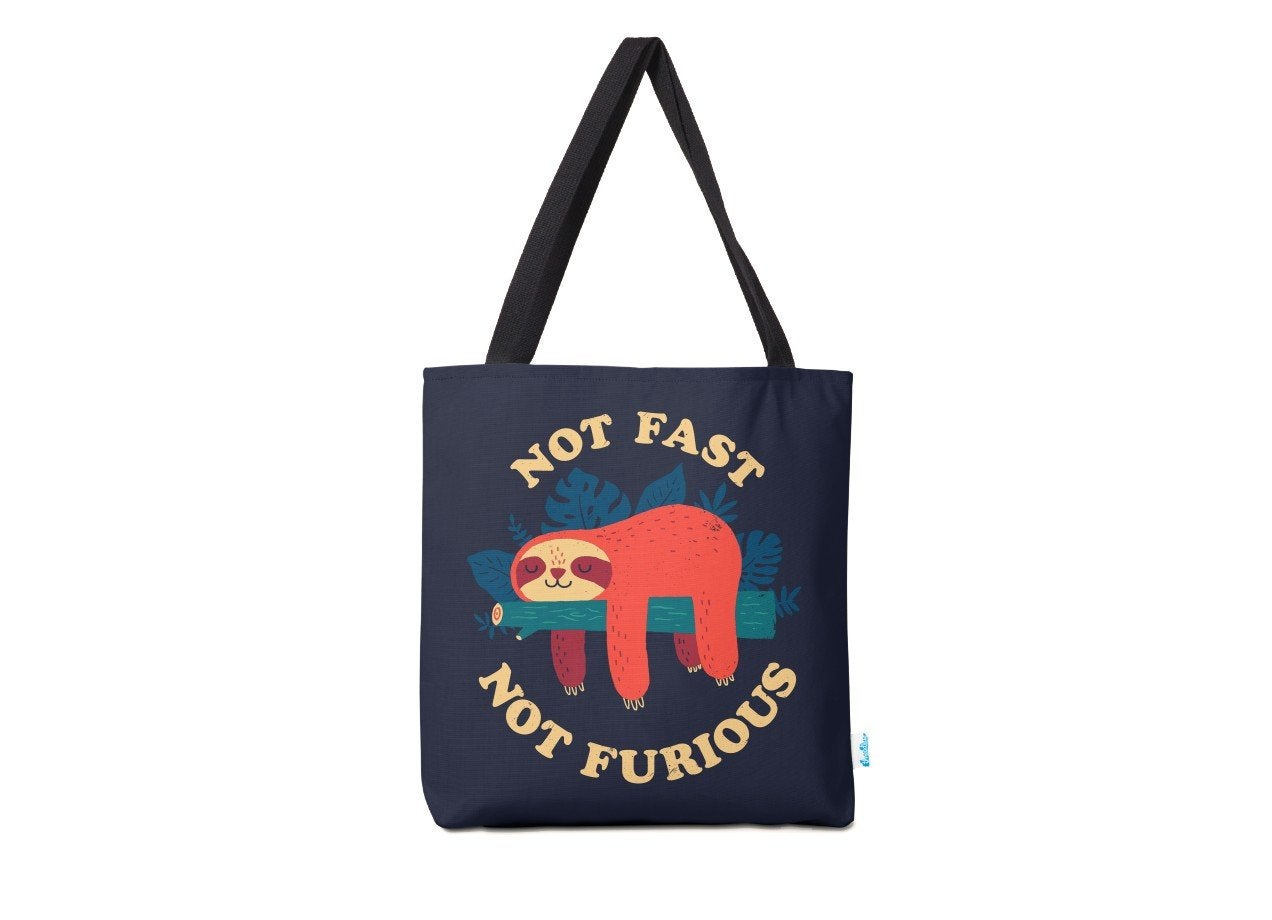 Threadless Not Fast Not Furious Tote Bag
