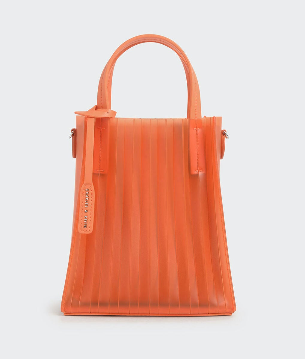 Charles & Keith Translucent Pleated Tote Bag