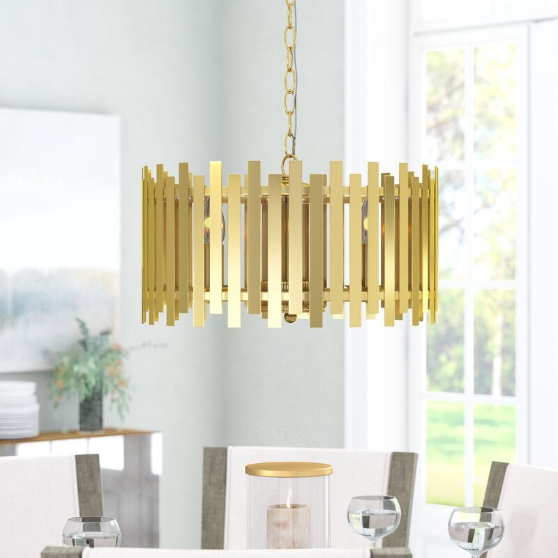 Brookline 4-Light Candle Style Drum Chandelier