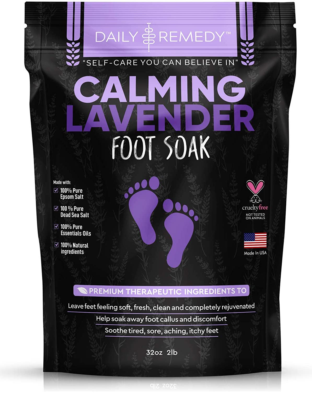 Calming Lavender Foot Soak with Epsom Salt