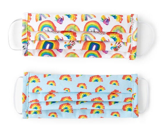 Children's Rainbow Face Coverings - Set of 2