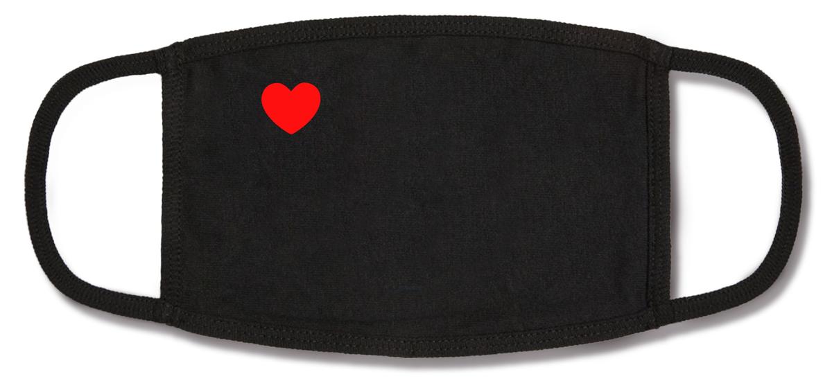 corner heart mask