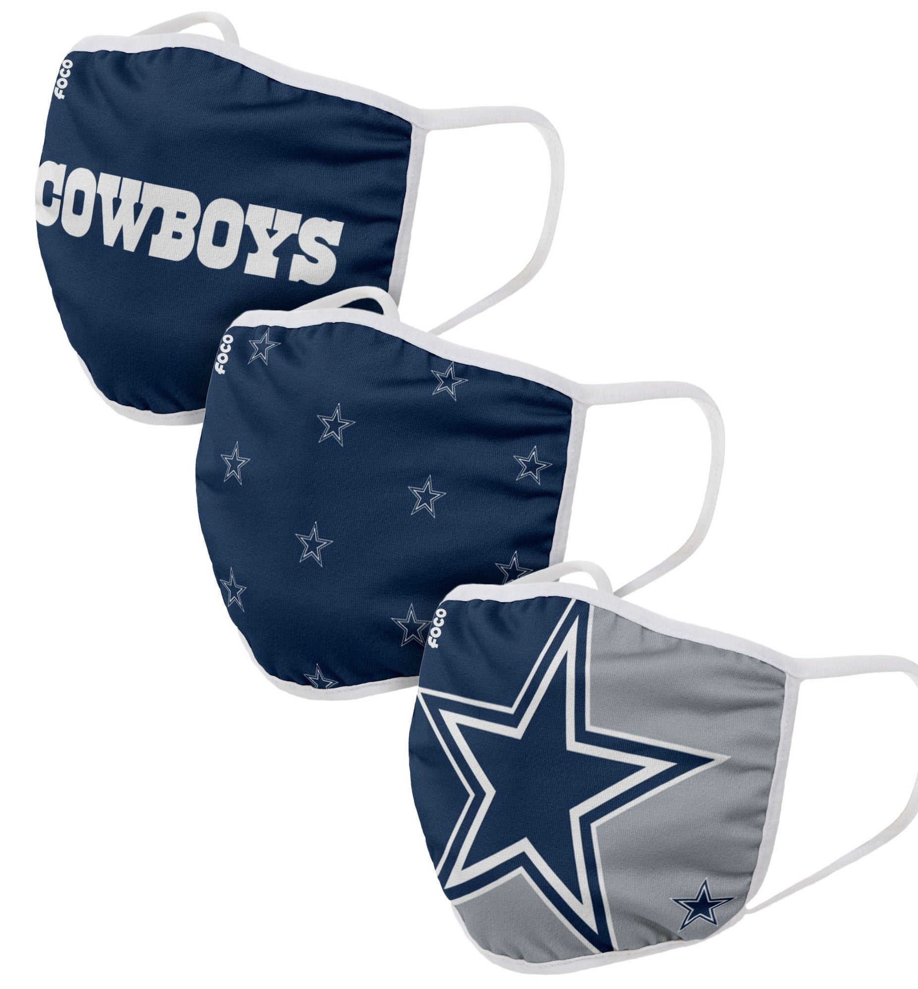 Officially Licensed Sports Team Face Covering (3-Pack)