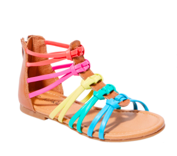 FabKids Rainbow Gladiator Sandals