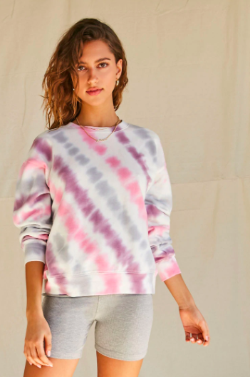 Forever 21 Tie-Dye French Terry Sweatshirt