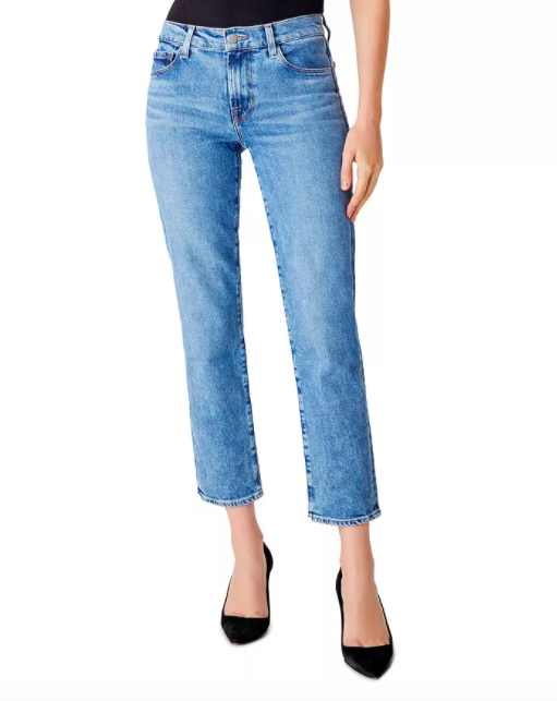 J Brand Adele Mid-Rise Straight Ankle Jeans in Chadron