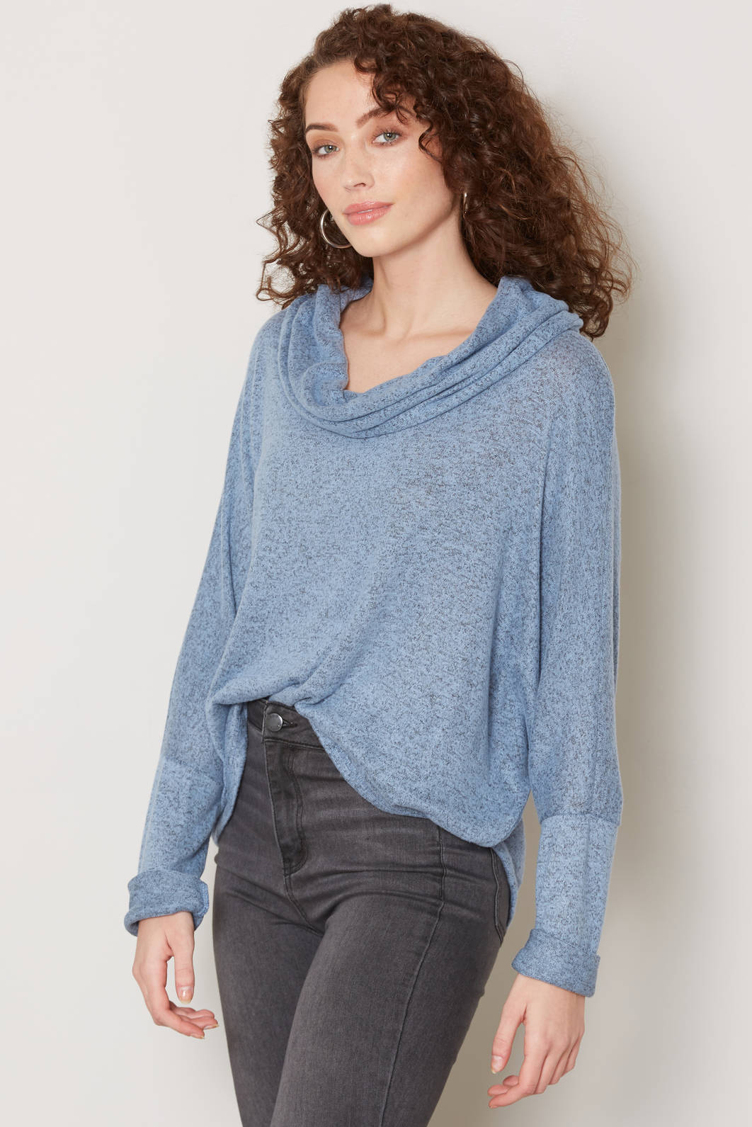 Neely Cowl Neck Hacci Top