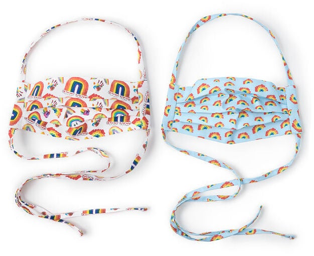 100% of profits from sales of these kid-designed, reuseable rainbow masks go to NYC Health + Hospitals.