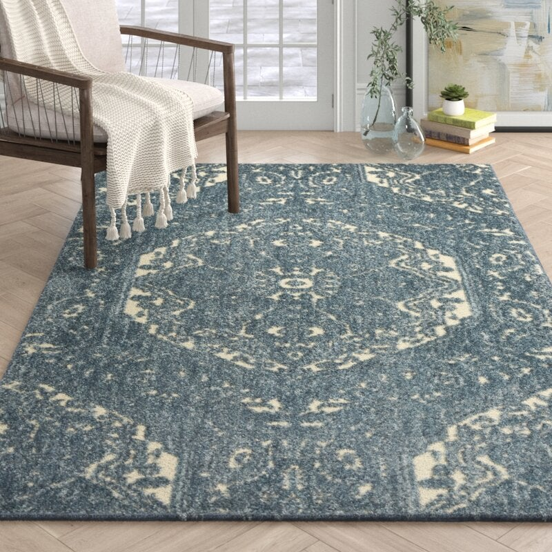 Valero Blue Area Rug