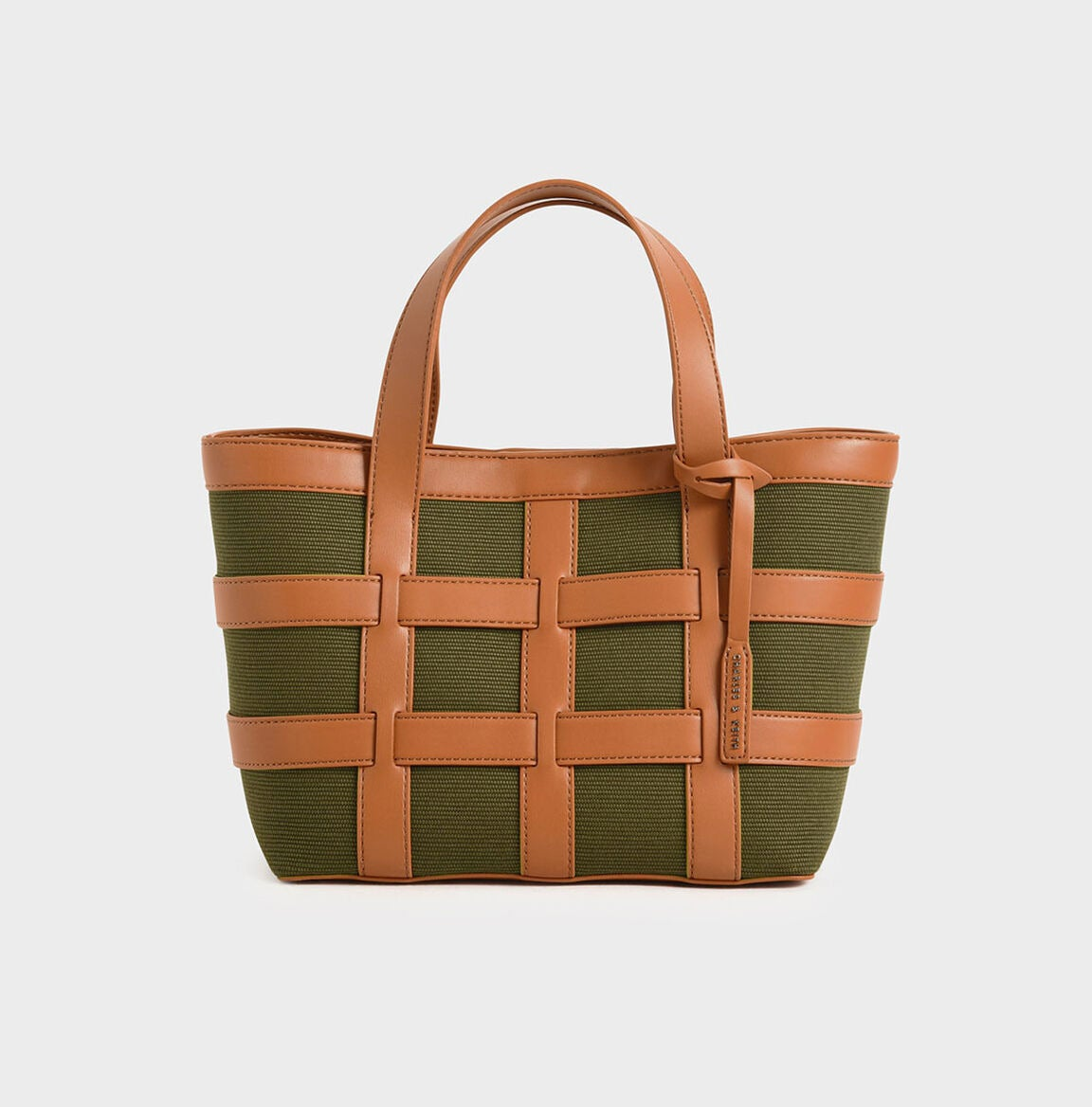 Charles & Keith Caged Canvas Tote Bag