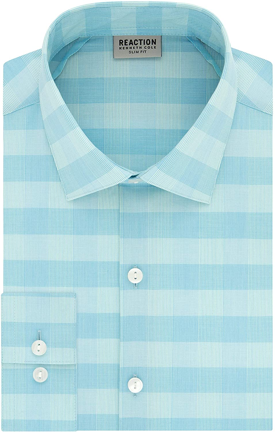 Kenneth Cole REACTION Slim Fit Check Dress Shirt