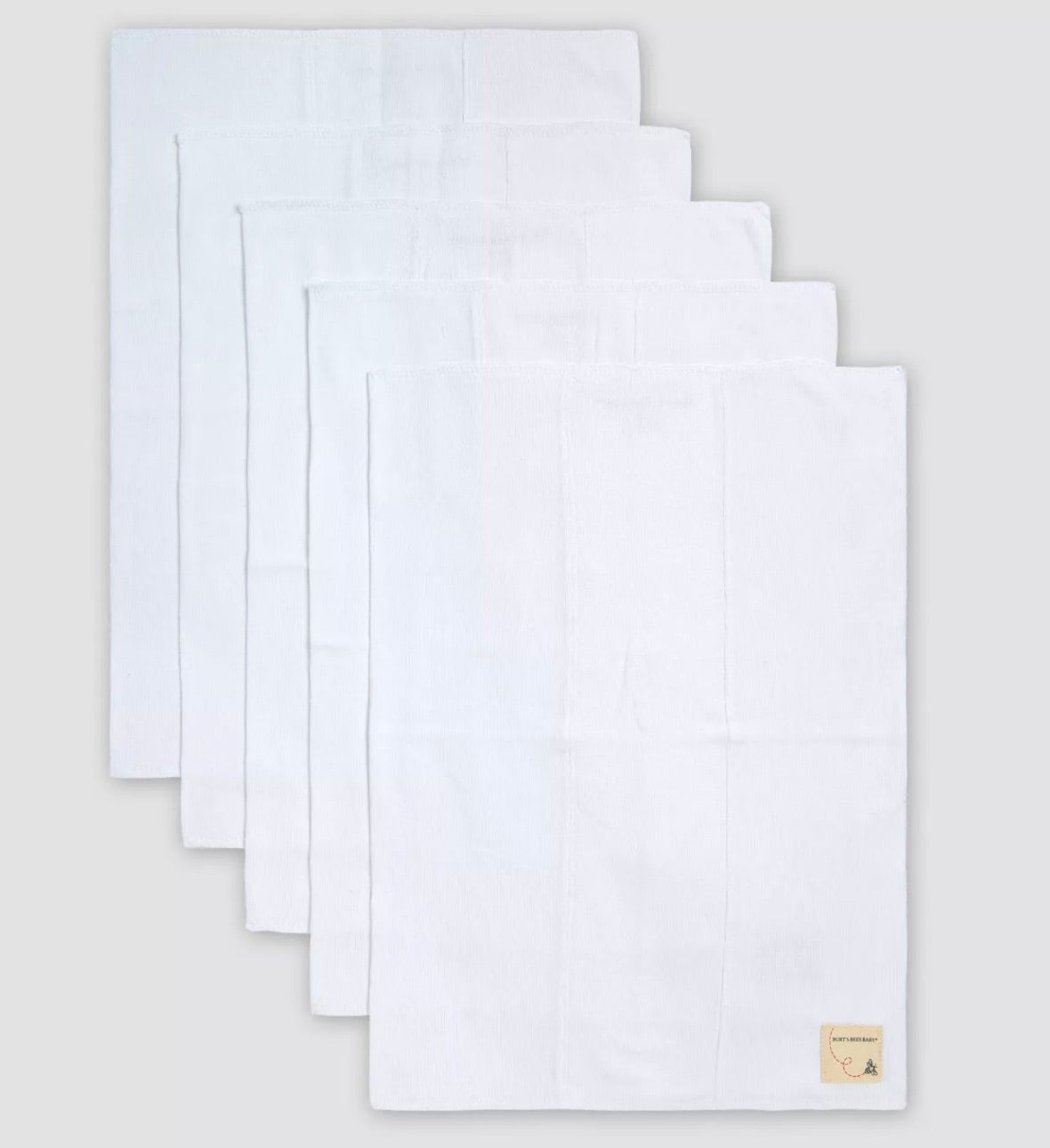 Organic Cotton 5-Pack Burp Cloth Set