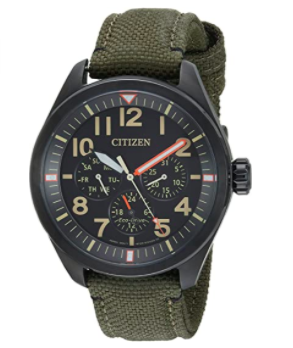 Citizen 'Military' Quartz Stainless Steel and Nylon Casual Watch