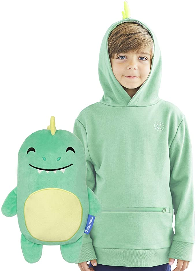 Cubcoats Dayo The Dinosaur - 2-in-1 Transforming Hoodie and Soft Plushie - Green