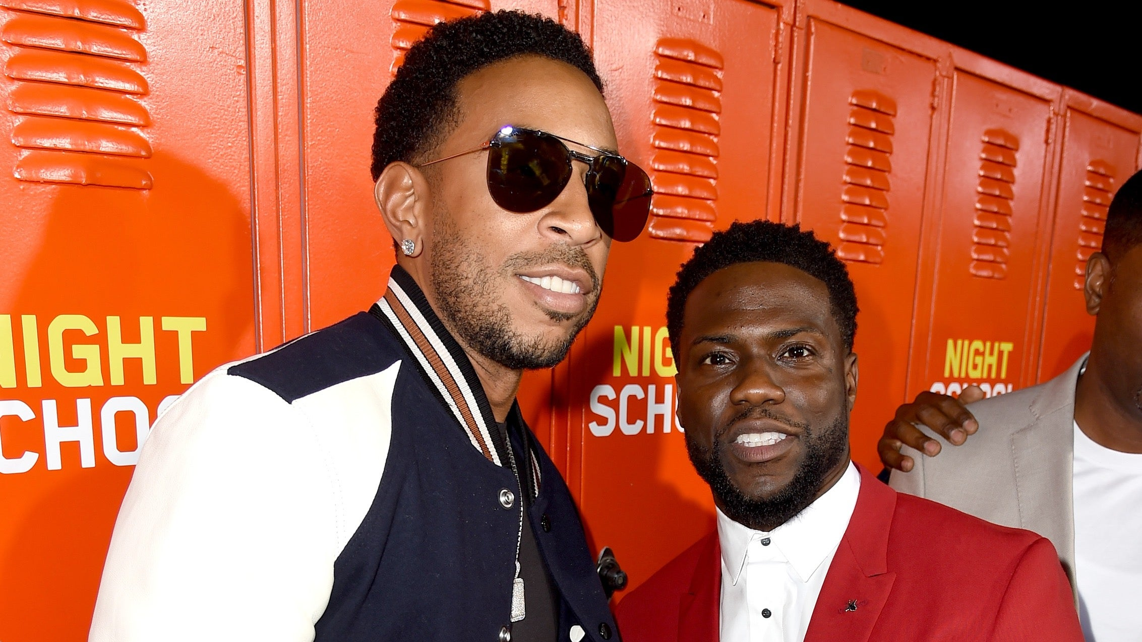 Ludacris (L) and Kevin Hart arrive at the premiere of Universal Pictures'