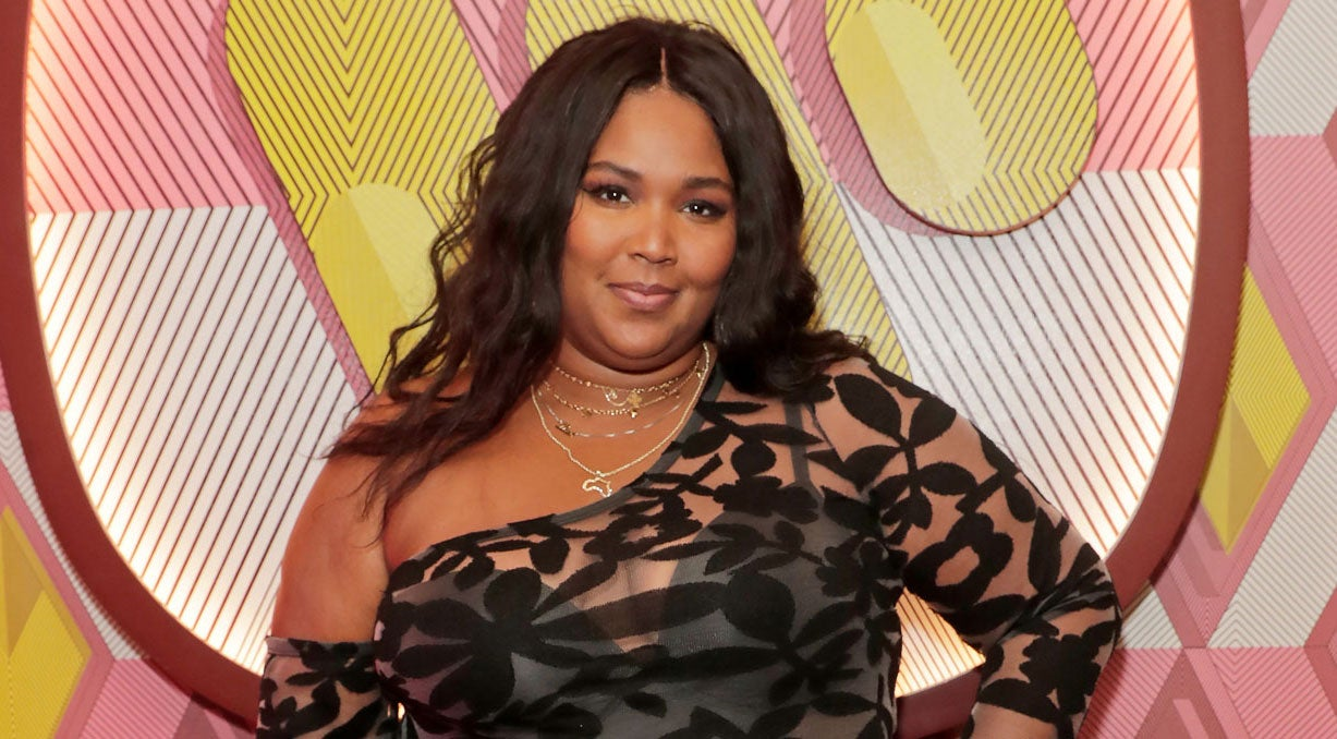 Lizzo at the Warner Music & CIROC BRIT Awards house party