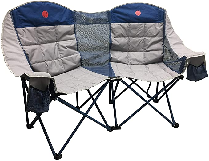 OmniCore Designs MoonPhase Home-Away LoveSeat Heavy Duty Oversized Folding Double Camp Chair